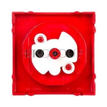 Simon 54 Pokrywa gniazda pojedynczego z przesłonami antybakteryjna czerwona DGZ1ZP/AB22-153182