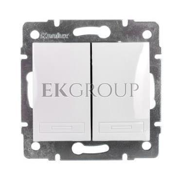 DOMO Łącznik zwierny podwójny szybkozłączka 10AX 250V biały 011022202 24714-166067