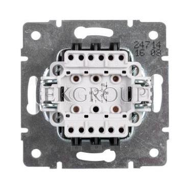 DOMO Łącznik zwierny podwójny szybkozłączka 10AX 250V biały 011022202 24714-166068