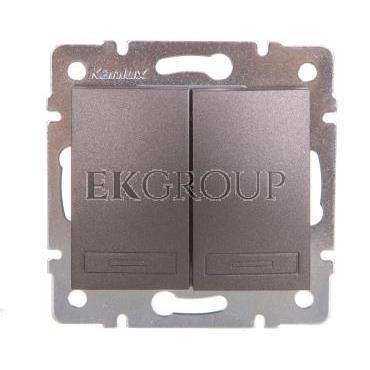DOMO Łącznik zwierny podwójny szybkozłączka 10AX 250V grafit 011022241 24892-166073