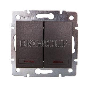 DOMO Łącznik zwierny podwójny LED szybkozłączka 10AX 250V grafit 011023241 24893-166079