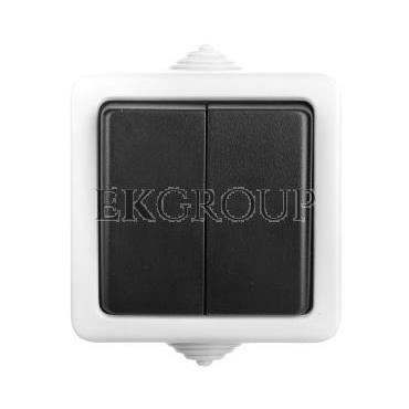 TEKNO Łącznik dwubiegunowy śrubowy 10AX 250V czarny IP54 25352-166085