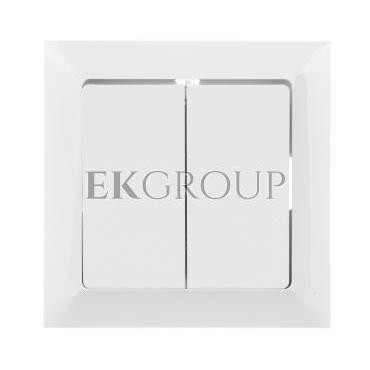 PREMIUM Łącznik podwójny z podświetleniem biały WP-3 Pr/S-166049