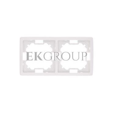 Simon Basic Standard Ramka podwójna uniwersalna biała BMR2/11-153932