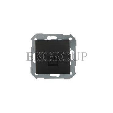 Simon 82 Pokrywa gniazda teleinformatycznego pojedynczego RJ płaska z adapterem i przesłoną grafit 82005-38-151926