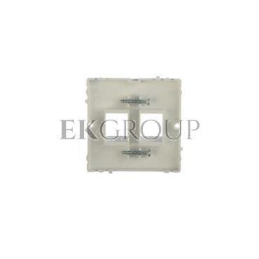 Simon Basic Pokrywa gniazda teleinformatycznego podwójnego 2xRJ Keystone płaska biała BMGK1P/11-151932