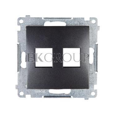 Simon 54 Pokrywa gniazda teleinformatycznego podwójnego 2xRJ Keystone płaska antracyt DKP2.01/48-152117
