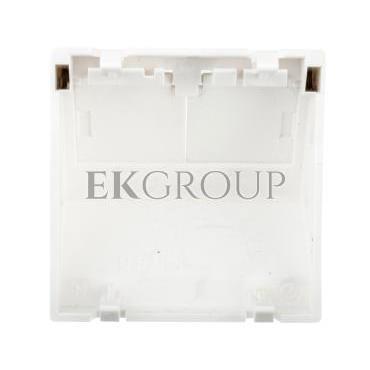 Simon Connect Płytka K45 gniazda teleinformatycznego podwójnego 2xRJ skośna z przesłoną czysta biel KB80/-152274