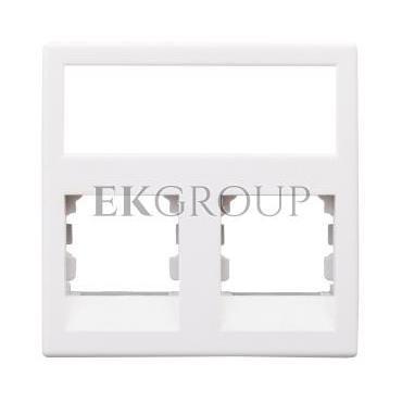 Simon Connect Płytka K45 gniazda teleinformatycznego podwójnego 2xRJ płaska czysta biel KB076/9-152286