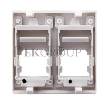 Simon Connect Płytka K45 gniazda teleinformatycznego podwójnego 2xRJ płaska czysta biel KB076/9-152287