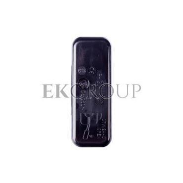 Łącznik do wbudowania dwubiegunowy kołyskowy 6A czarny WP2005-161448