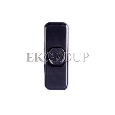 Łącznik do wbudowania dwubiegunowy kołyskowy 6A czarny WP2005-161449