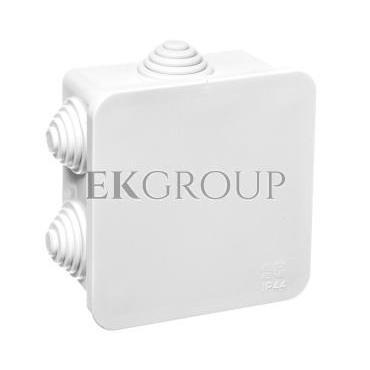 Puszka natynkowa hermetyczna pojedyncza 76x76x40 IP 44 biała 0242-10-172318