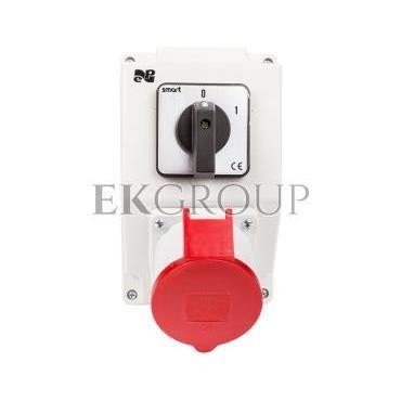 Zestaw instalacyjny z gniazdem 32A 5P RS-Z (0-1) czerwony 6274-00-174812