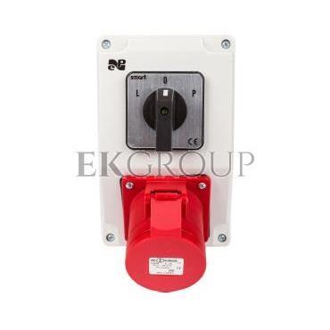 Zestaw instalacyjny z gniazdem 32A 4P RS-Z (L-0-P) czerwony 6280-20-174840