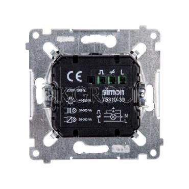 Simon 54 Ściemniacz przyciskowy 40-300W antracyt D75310.01/48-173201