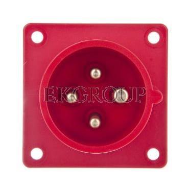 Wtyczka tablicowa 16A 4P 400V czerwona IP44 614-6-174451