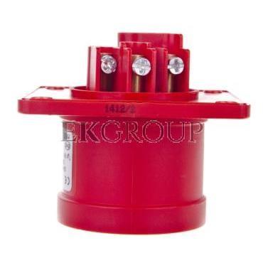 Wtyczka tablicowa 16A 4P 400V czerwona IP44 614-6-174452
