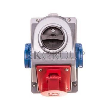 Zestaw instalacyjny z gniazdem 16A 5P 2x2P Z (0-1) czerwony Combopol 61132-6 96061552W-174951