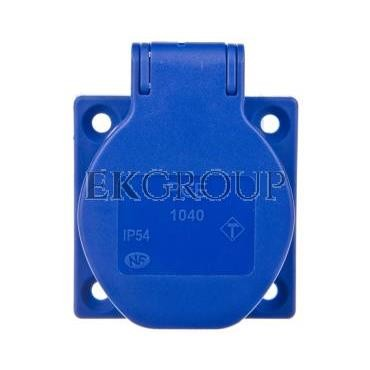 Gniazdo tablicowe 10/16A 2P Z 230V niebieskie IP54 1040-0bsc-167781