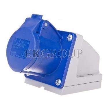 Gniazdo stałe 16A 3P 230V niebieskie IP44 /mała obudowa/ 113-6K-167745
