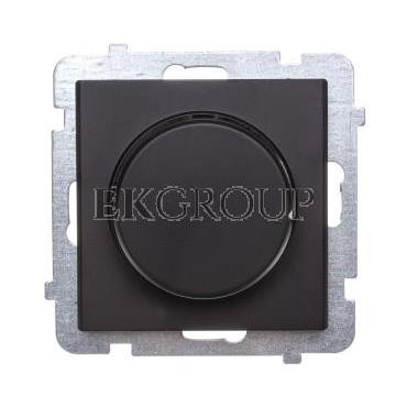 SONATA Ściemniacz przyciskowo-obrotowy /żarowy i halogenowy/ czarny metalik ŁP-8R/m/33-172858