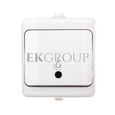 BRYZA Przycisk hermetyczny /światło/ podświetlany IP54 biały 190403-170151