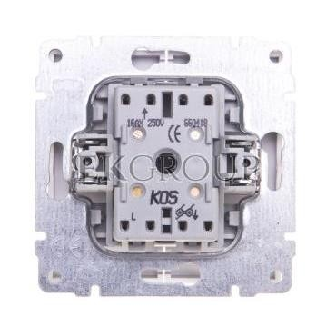 KOS66 Przycisk żaluzjowy biały 660418-171642
