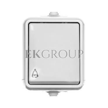 HYDRO Przycisk hermetyczny /dzwonek/ IP44 biały 120404-170155