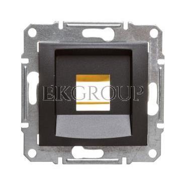 SEDNA Płytka centralna pojedyncza pod wkład komputerowy RJ45 SYSTIMAX grafitowa SDN4300570-169188