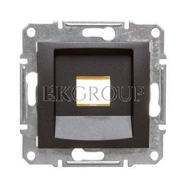 SEDNA Płytka centralna pojedyncza pod wkład komputerowy RJ45 RDM grafitowa SDN4300470-169191