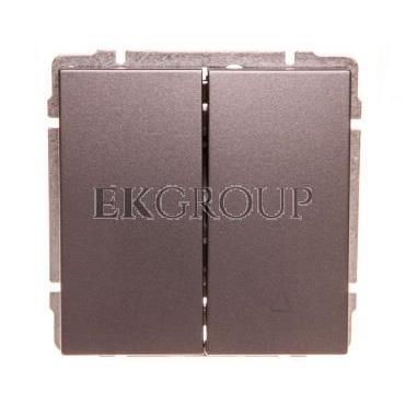 KOS66 Przycisk żaluzjowy grafit 666018-171668