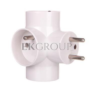 Rozgałęźnik wtyczkowy 3-gniazda z/u biały E2010 P0024-172607