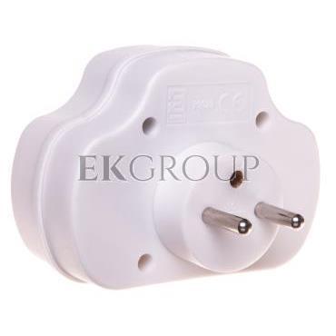 Rozgałęźnik wtyczkowy z wyłącznikiem 1-gniazdo z/u   2x Euro biały P0029-172612