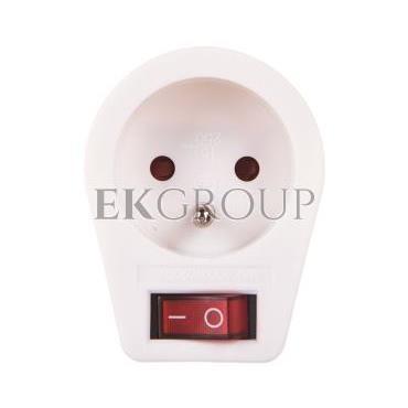 Wtyczka-gniazdo z wyłącznikiem 10/16A 250V 2P Z białe P0027-172614