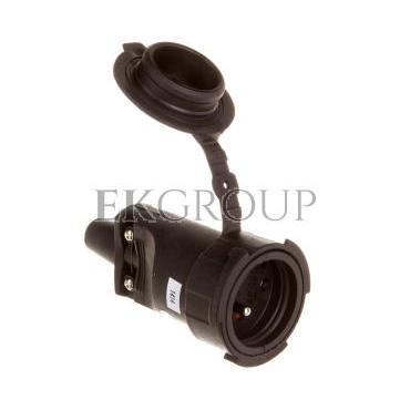 Gniazdo gumowe przenośne z/u 10/16A 250V 2P Z IP65 P0044-168565