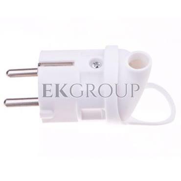 Wtyczka kątowa 10/16A 250V 2P Z z uchwytem biała EM-GRC-02 P0039-173898