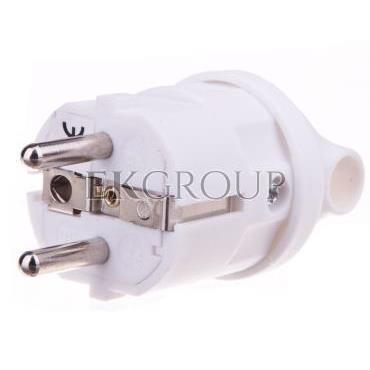 Wtyczka kątowa 10/16A 250V 2P Z z uchwytem biała EM-GRC-02 P0039-173899