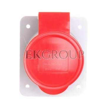 Gniazdo stałe 4P 32A 400V czerwone IP44 10° 6H IEC 309 HP GW62220H-167810