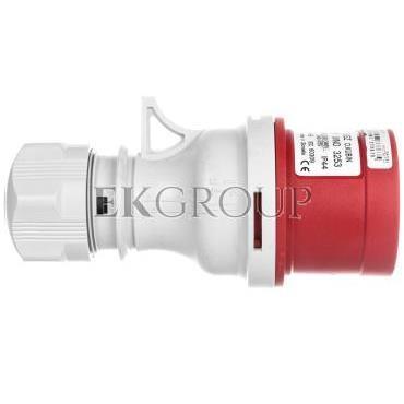 Wtyczka przenośna ze zmianą faz 5P 32A 400V czerwona IP44 IVNO 3253-174155