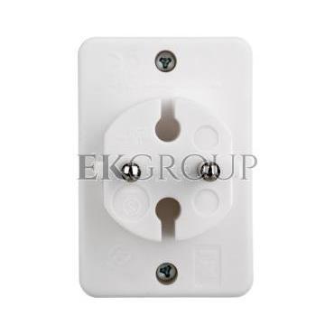 Rozgałęźnik wtyczkowy 3-gniazda b/u Euro biały DG-ZD01/3 P0013-172644