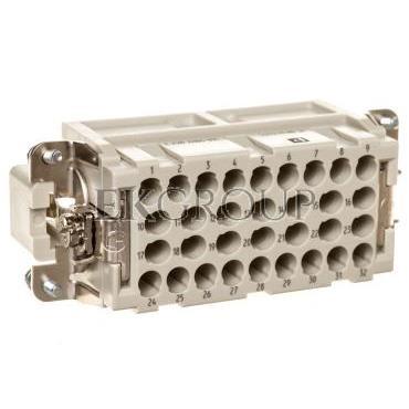 Wkład stykowy do złączy przemysłowych 32-bieguny 4mm2 męski HC-BB 32-ESTC 1687480-173589
