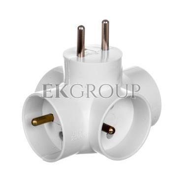 Rozgałeźnik wtyczkowy 4x2P Z biały R-48-172620