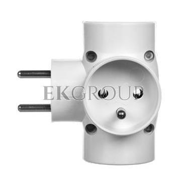 Rozgałeźnik wtyczkowy 4x2P Z biały R-48-172621