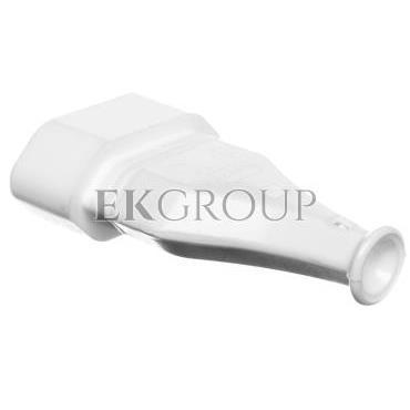 Gniazdo przenośne płaskie b/u EURO 2,5A 250V rozbieralne białe GN-11-168573