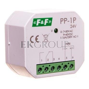 Przekaźnik elektromagnetyczny 1P 16A 7-30V AC / 9-40V DC PP-1P 24V-168787