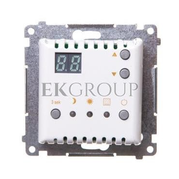 Simon 54 Termostat cyfrowy z wewnętrznym czujnikiem temperatury (moduł) pierścień biały DTRNW.01/11-167050