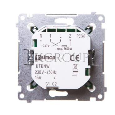 Simon 54 Termostat cyfrowy z wewnętrznym czujnikiem temperatury (moduł) pierścień biały DTRNW.01/11-167051