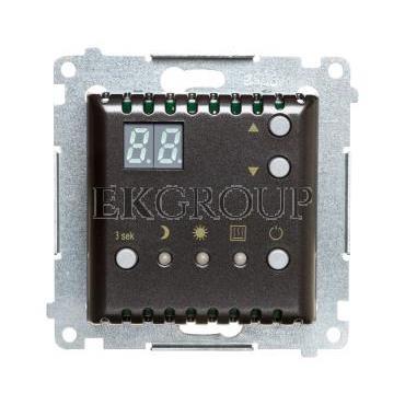Simon 54 Regulator temperatury z wyświetlaczem, wewnętrzny czujnik temperatury antracyt DTRNW.01/48-167059