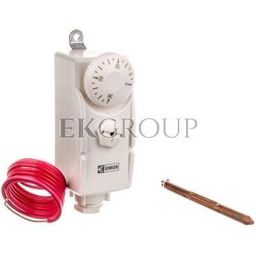 Termostat ręczny z czujnikiem T80F 0-90°C 16A 230V biały P5682-166909